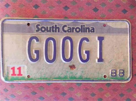 South Carolina Vanity Plates Search by South Carolina License Plate 1988 Vanity Googi