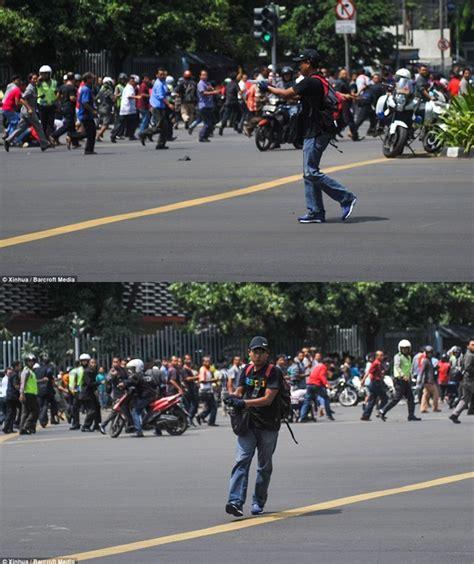 Tas Selempang Polisi Thamrin berdandan mirip warga ini wajah terduga salah satu pelaku