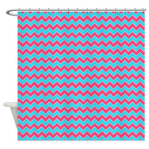 chevron pattern pink and blue chevron pattern aqua blue and pink shower curtain by