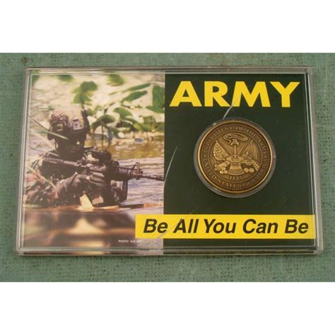 Can You Get In The Army With A Criminal Record U S Army Coin Quot Be All You Can Be Quot In