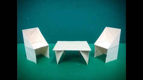 How To Make An Origami Table - how to make origami paper table 2 origami paper