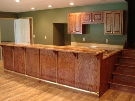 Oak Bar Counter Custom Oak Bar With Hickory Counter Top By Smith
