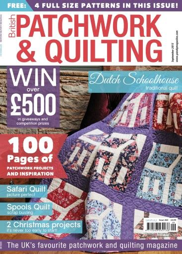 Patchwork And Quilting Magazine - patchwork and quilting magazine september 2015