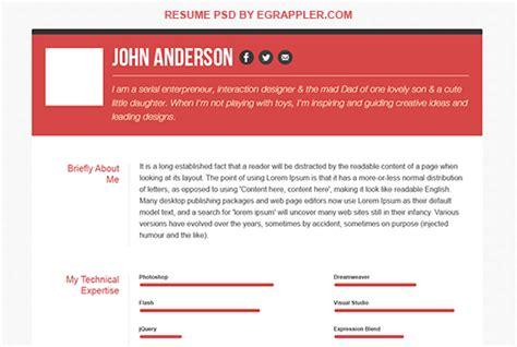 responsive html css3 cv template clean cv resume html template