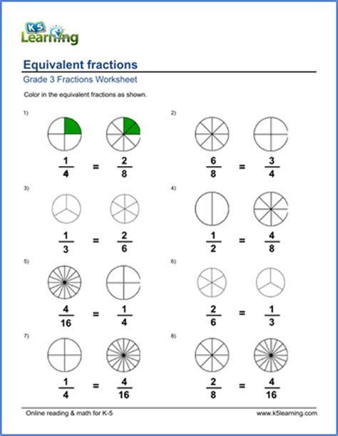 Grade 5 Equivalent Fractions Worksheets