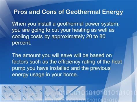 20 Pros And Cons Of by Pros And Cons Of Geothermal Energy