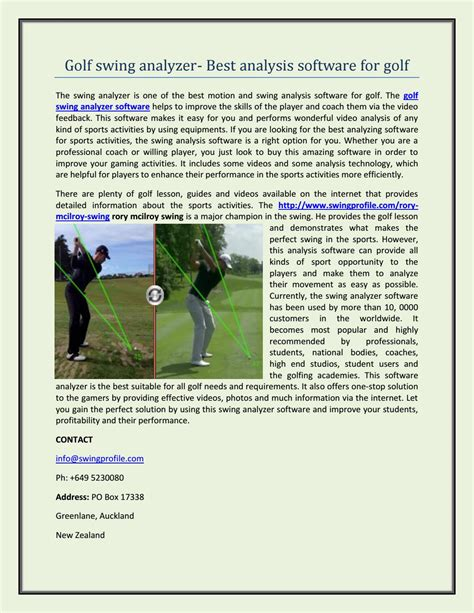 golf swing analyzer software golf swing analyzer best analysis software for golf by