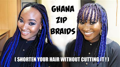 zip hair styl ghana zip braids shorten your hair without cutting it