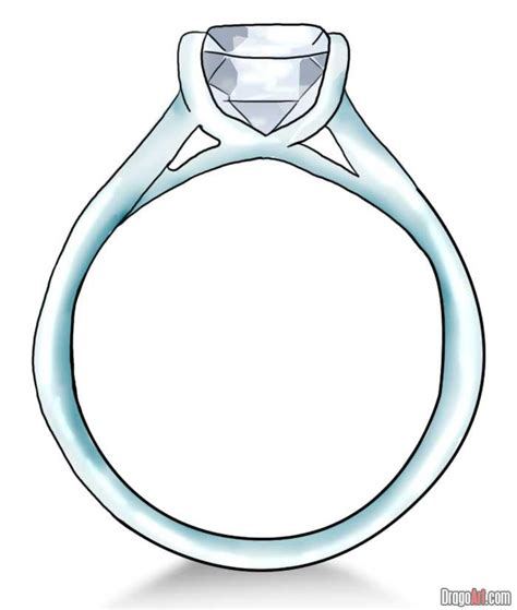 how to draw wedding rings how to draw a ring