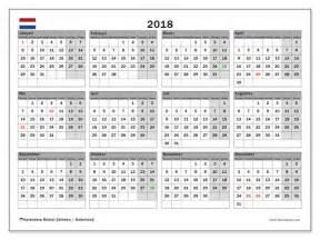 Kalender 2018 Feestdagen Kalenders Om Af Te Drukken 2018 Nederland