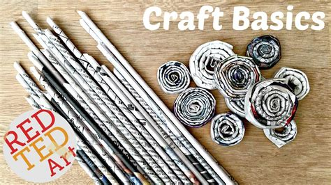 newspaper arts and crafts for diy newspaper rolls coils craft basics