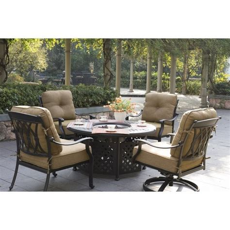 patio dining set with pit darlee san marcos 5 patio pit dining set in