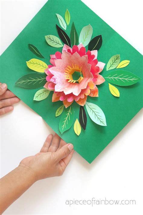 birthday pop up cards templates flower make a birthday card with pop up watercolor flower free