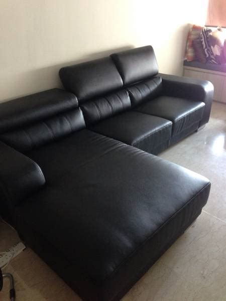 sofa for sale in singapore all leather casa italy black l shaped 3 seater sofa for