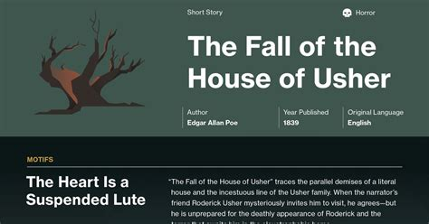 Fall Of The House Of Usher Lesson Plans Fall Of The House Of Usher Lesson Plans Quot The Fall Of The House Of Usher Quot With Lesson