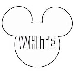 large mickey mouse template outline of mickey mouse cliparts co
