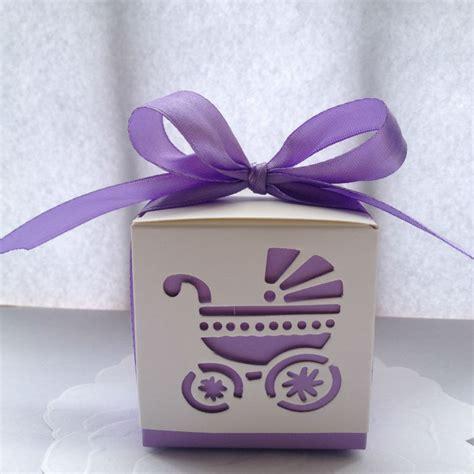 Wholesale Baby Shower Favor Boxes by Wholesale 10pcs Light Purple Laser Cut Carriage Favor