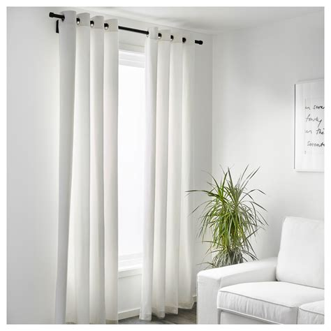 white ikea curtains merete curtains 1 pair white 145x250 cm ikea