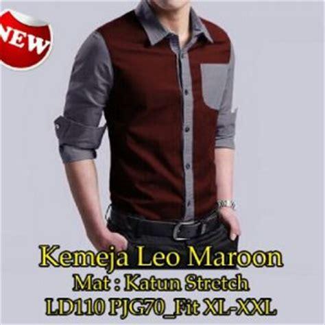Kemeja Cowo Murah Kemeja Afgan Maroon Hitam baju kemeja pria warna putih model terbaru murah ryn