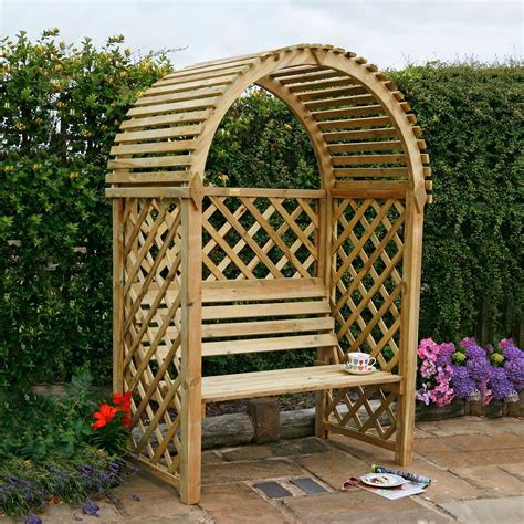 b q garden bench blooma softwood arbour with assembly service departments