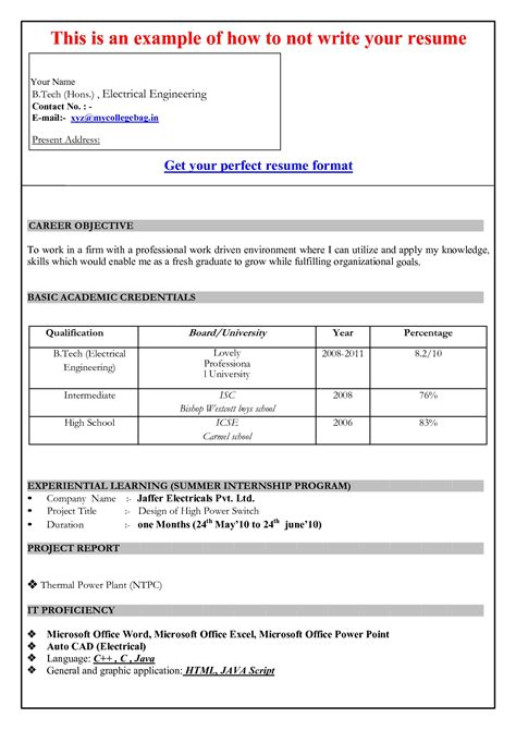 how to format your resume in word resume in table format resume ideas