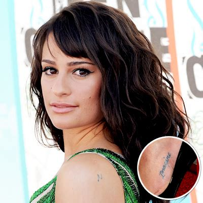 lea michele s tattoos lea michele tattoos