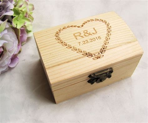 aliexpress com buy personalized wooden wedding ring box custom your names and date wood ring