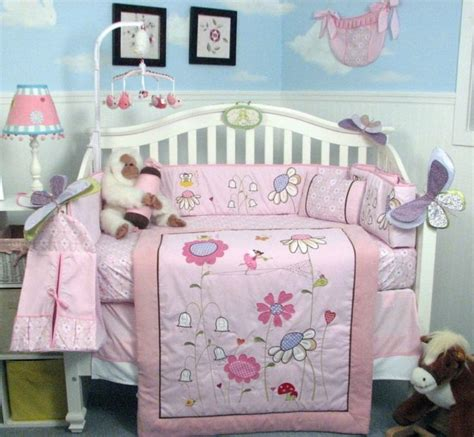 Set Mimi Lanscape Pink Gh pink crib bedding set garden infant baby nursery 14 pc quilt sheet mimi