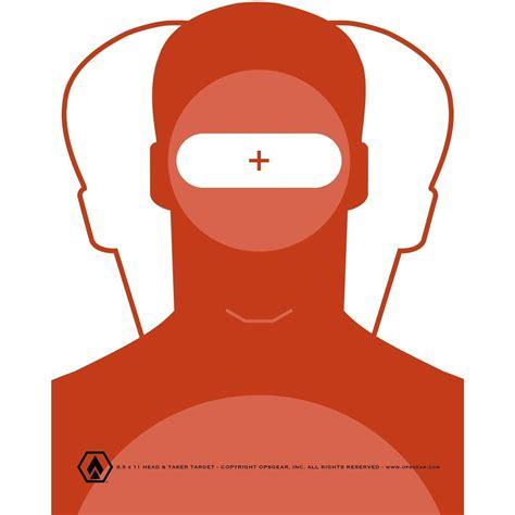 printable headshot targets free 8 5 x 11 headshot taker target pdf file opsgear2