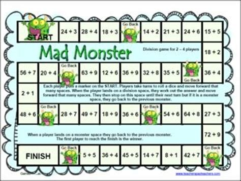 printable math board games for 6th grade math board games plays and children on pinterest