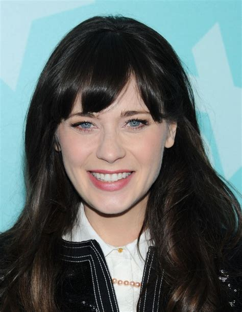 long hair styles with swoop bangs black hair 27 zooey deschanel hairstyles pictures of zooey s