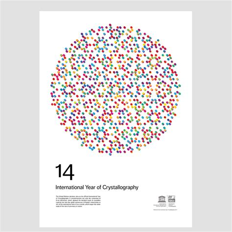 x ray poster design image of international year of crystallography 8