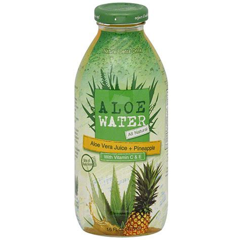 Detox Water Drink Aloe by Aloe Water Aloe Vera Juice Pineapple Detox Drink 16 Oz