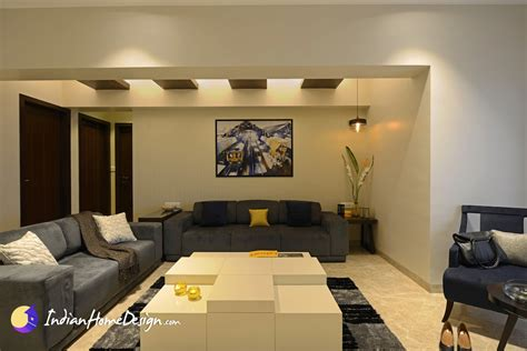 spacious living room interior design ideas by purple designs indian home design free house