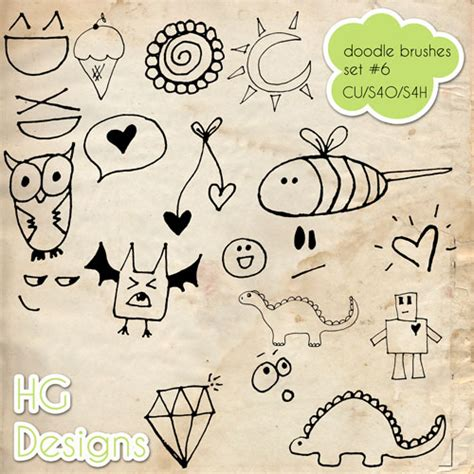Doodle Photoshop Brushes 6 By Hggraphicdesigns On Deviantart