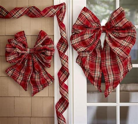 decor ribbon plaid ribbon outdoor decor pottery barn