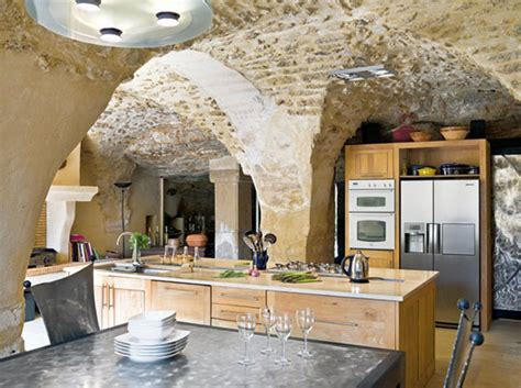 stone kitchens design color roundup rustic stone and brick used in interior