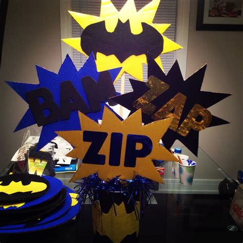 Batman Table Decorations by Pin By On Bday Ideas
