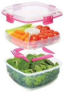 Luch Box Fancy Foodsaver 700ml sistema klip it bpa free salad to go lunch box 1 1 litre