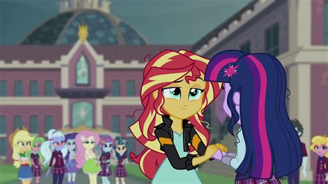 equestria girls happy wiki image sunset and sci twi happy eg3 png my little pony