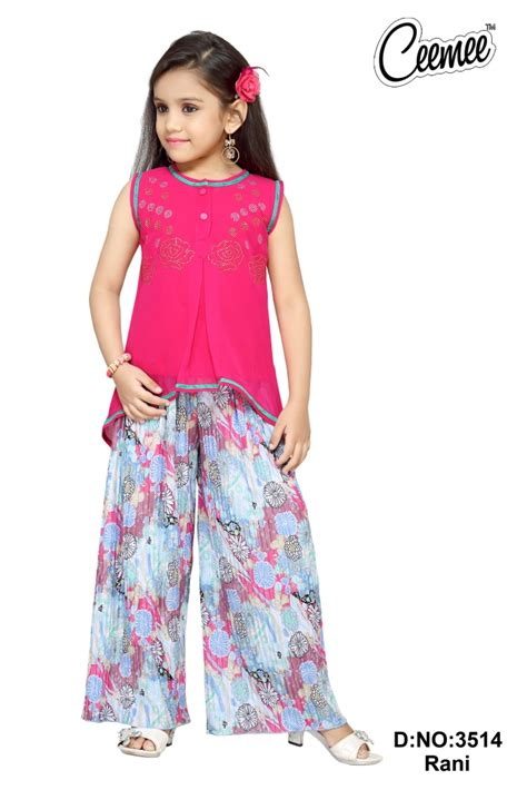 dress design with plazo fashionable girls party dresses plazo set buy designer