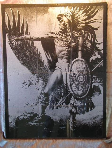 old aztec warrior tattoo stencil image truetattoos