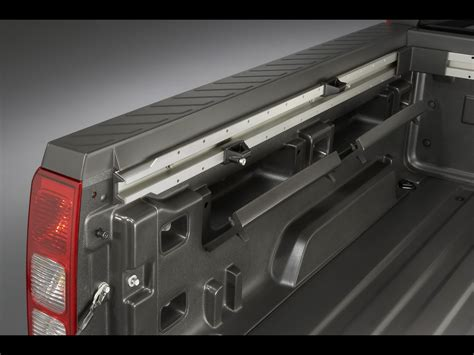 2009 hummer h3t alpha bed rail system and integrated