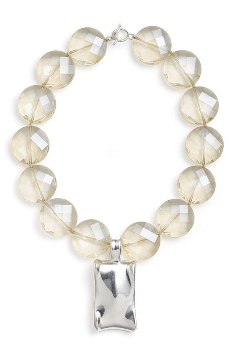 simon sebbag glass statement pendant necklace in