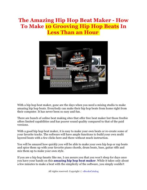 how to make hip hop the amazing hip hop beat maker how to make 10 grooving hip