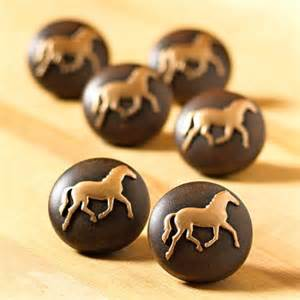 6 pony western knobs drawer pulls cabinet new