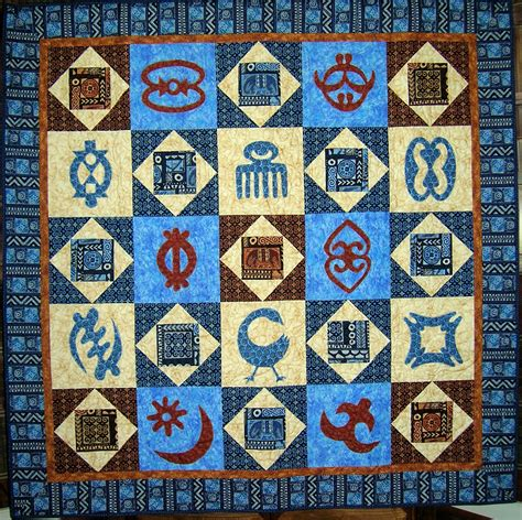 Quilt Symbols by Debby Kratovil Quilts Adinkra Quilt 2016 Block Of The Month