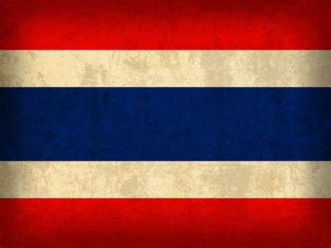 Inside Home Design Plans by Thailand Flag Vintage Distressed Finish Mixed Media By