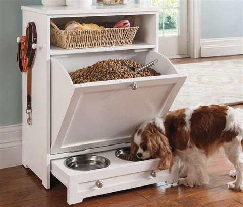 pet food storage cabinet with bowls cabinets design ideas