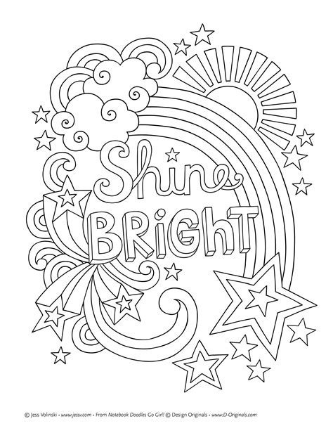 Girly Coloring Pages by Girly Doodle Coloring Pages Design Coloring Pages